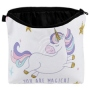 Cosmetic bag with motive Unicorn Star multicolor