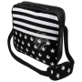 Messenger Bag Motif Weed+Stripes black/white