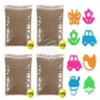 Magic sand brown 4 pack and 8 shapes