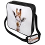 Messenger Bag Motif Giraffe white/brown