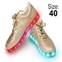 LED Shoes color gold Size 40