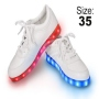 LED Shoes color white Size 35