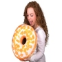 Donut pillows White glaze with pieces of orange