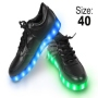 LED Shoes color black Size 40