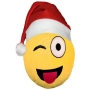 Christmas hat Emoticon Emoji-Con pillow zwinker