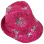 Trilby hat with stars pink