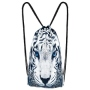 Backpack bag White Tiger