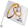 Car flag just married 2