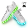 LED Shoes color silver Size 36