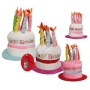Birthday hat with 8 candles+music Happy Birthday