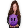 Pillow Emoticon Emoji-Con böse grinsend