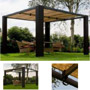 Rattan stand awning