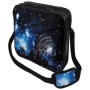 Messenger Bag Motif Galaxy blue Color black/blue