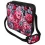 Messenger Bag Motif Hibiscus pink/gray