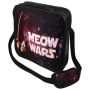 Messenger Bag Motif Meow Wars black/red