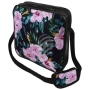 Messenger Bag Motif Roses Color black/pink