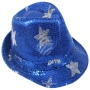 Trilby hat with stars blue