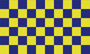 Flag Checkered  blue yellow