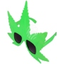 Party Glasses Funglasses Weed marijuana green