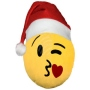Christmas hat Emoticon Emoji-Con pillow little kiss