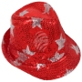 Trilby hat with stars red