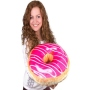 Donut pillows glaze pink