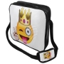 Messenger Bag Motif Emoticon King white/yellow