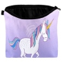 Cosmetic bag with motive Unicorn multicolor