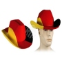 Cowboy hat with cord Germany flag