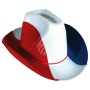 Cowboy hat with cord France flag