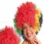Afro Wig black yellow red blue green