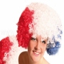 Afro Wig red/white/blue
