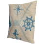 Motif pillows Maritim angular blue/white