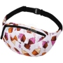 Fanny pack Hipbag Cupcakes white