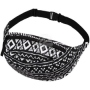Fanny pack Hipbag Aztec pattern white