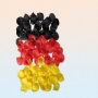 Rose petals germany flag