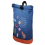 Backpack with roll closure Icons blue/multicolor