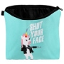 Cosmetic bag with motive Unicorn and Shut your face