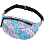 Fanny pack Hipbag Cats blue pink white