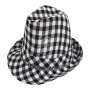 Trilby hat Clubstyle black-white checkered