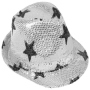 Trilby hat with stars silver